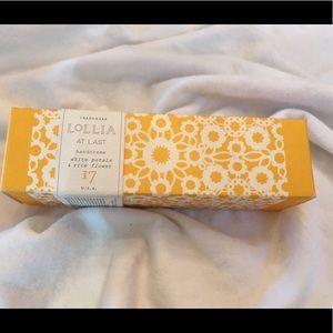 """Lollia Hand Cream """"At Last"""""""